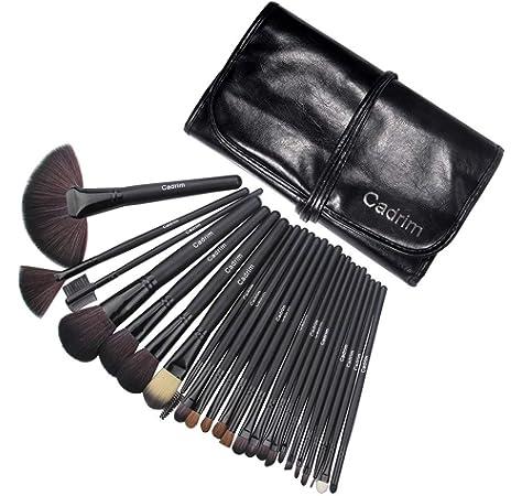 Anjou Brochas Maquillaje Comésticos 20 Piezas, Set Brochas Maquillaje para Ojos, cejas, base de maquillaje, polvos, crema: Amazon.es: Belleza