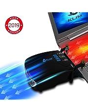 KLIM™ Tornado Refroidisseur PC Portable - Nouveau + INNOVANT - Refroidissement Rapide - Extracteur d'air USB pour Ordinateurs Portables - Compact + Léger + Puissant + Efficace Contre la Surchauffe
