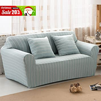 Bon Uozzi Cotton Stretch Sofa Slipcover(With 2 Green Pillow Cases As A Gift),