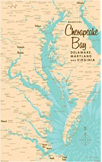 Amazon.com: Chesapeake Bay 3 D Nautical Wood Chart, 24.5