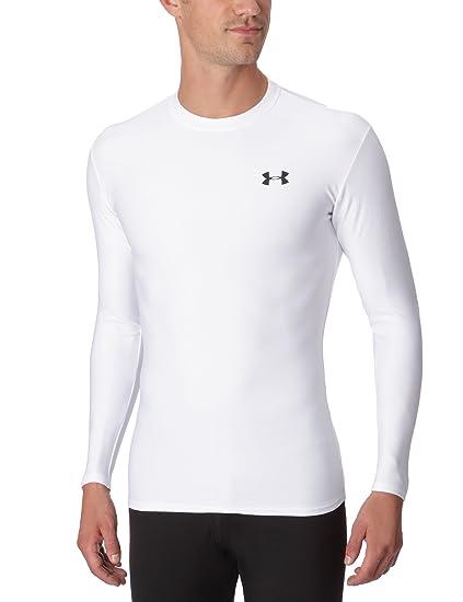 Under Armour Evo ColdGear - Camisa de manga larga para hombre, tamaño Medio, color blanco: Amazon.es: Ropa y accesorios