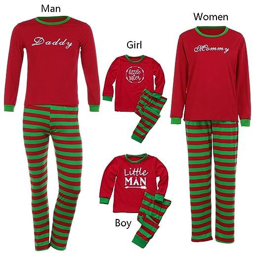 910b582806 Amazon.com  Matching Family Pajamas PJS Sets Christmas Sleepwear Printed  Homewear Nightwear Adults Boys Kids Pajama Set Outfit  Clothing