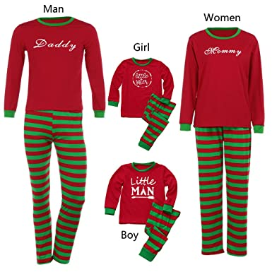 ace00e472c Amazon.com  Matching Family Pajamas PJS Sets Christmas Sleepwear Printed  Homewear Nightwear Adults Boys Kids Pajama Set Outfit  Clothing
