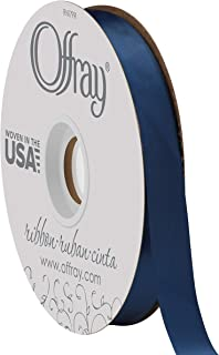 product image for Double Face Satin Ribbon, 50 Yards, Light Navy