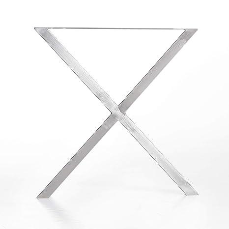 mina concept Mesa Estructura Acero Inoxidable X Forma de ...