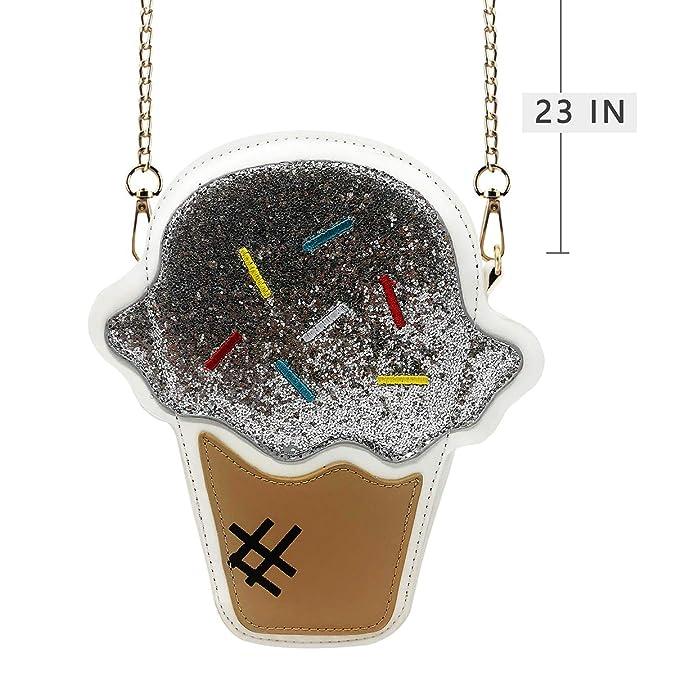Amazon.com: Bolso bandolera con diseño de helado en forma de ...