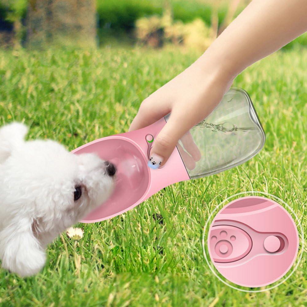 Botella de Agua para Perros para Caminar de STRIR Dispensador de Agua para Mascotas Moda Antibacterial portátil para Perros Viaje Botella para Beber Agua Dispensador para Platos