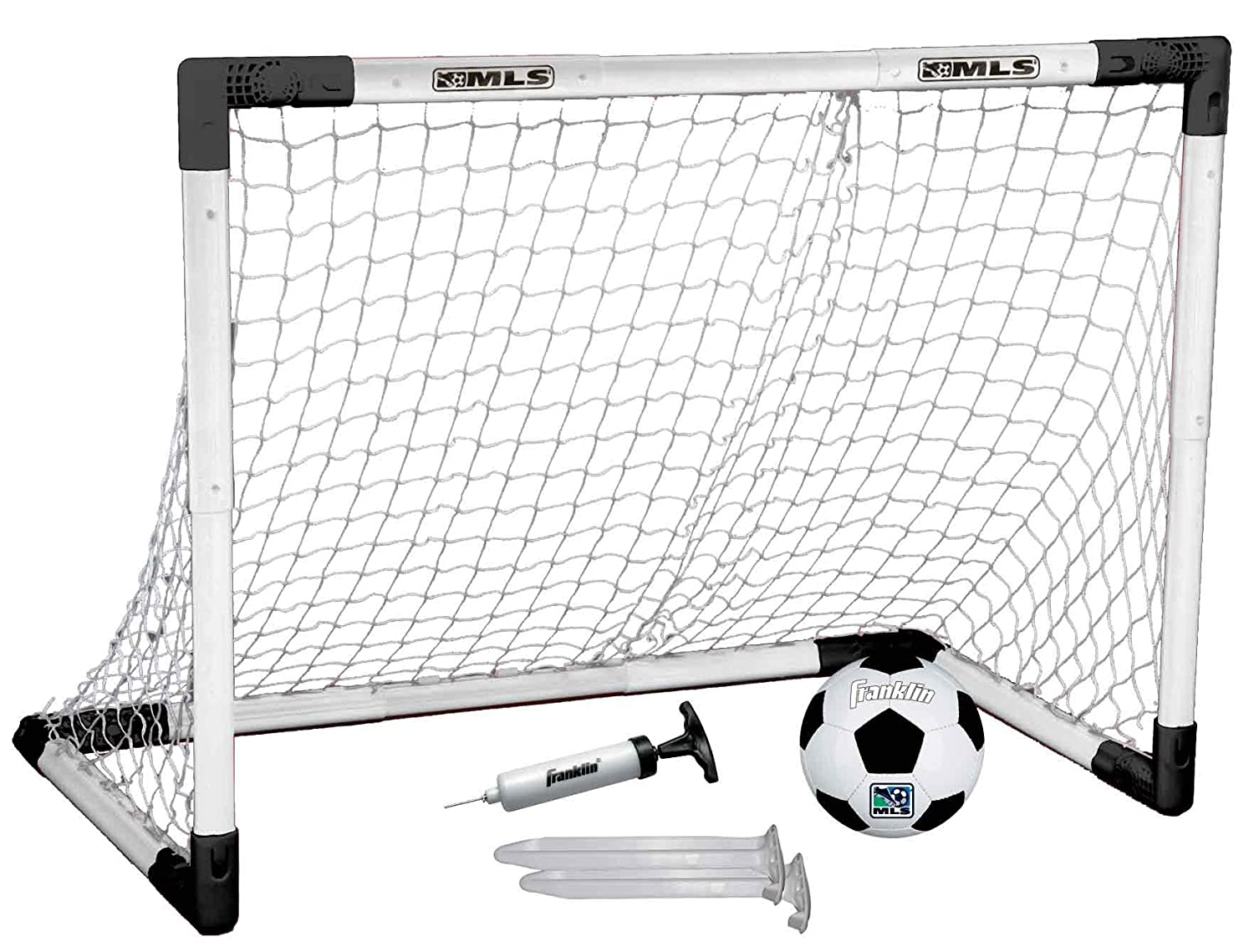 b3666806737 Amazon.com   Franklin Sports MLS Insta-Set Soccer Goal and Ball Set   Soccer  Nets For Kids   Sports   Outdoors