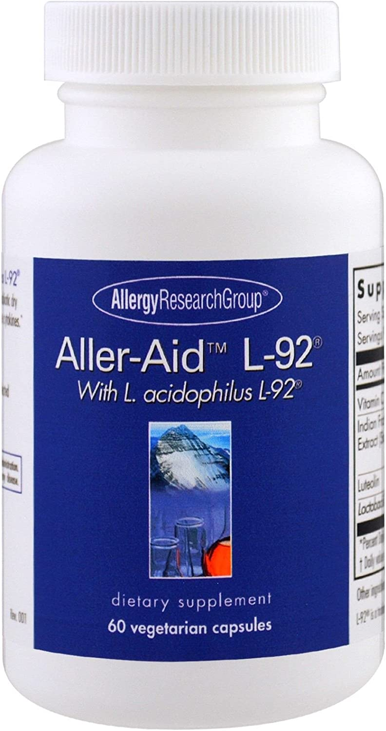 Allergy Research Group Aller-Aid L-92 with L Acidophilus L-92 60 Vegetarian Capsules
