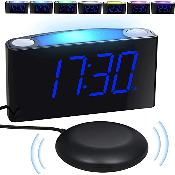 Loud Vibrating Alarm Clock Bed Shaker for Heavy Sleepers Deaf Seniors Kids