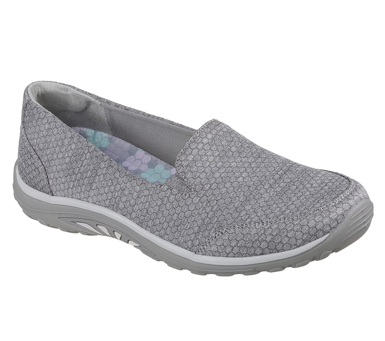 Skechers Relaxed Fit Reggae Fest Summit View Womens Slip On Flats Gray 7.5