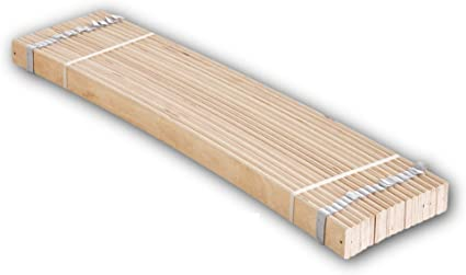 Stella Trading Enrollable de Listones de muelles estables para Superficie de Descanso de 120 x 200 cm – Somier Madera de Abedul, contrachapada