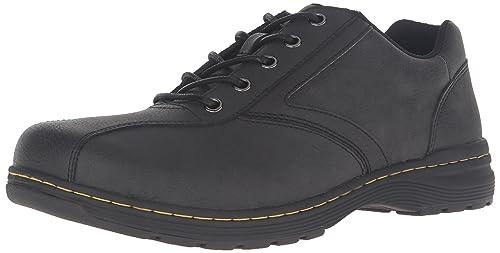Dr.Martens Mens Greig Vancouver Black Leather Shoes 44 EU 0ty377NblP