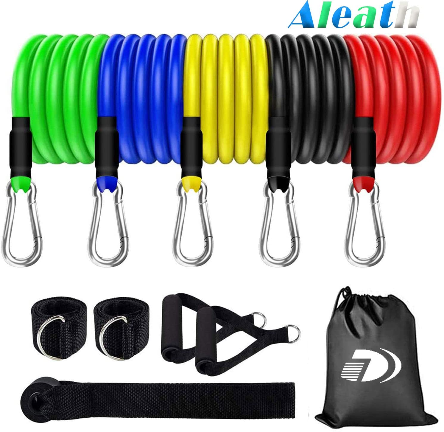 Exercise Bands,Resistance Bands Set, with Door Anchor,Handles, Waterproof Carry Bag, Legs Ankle Straps for Resistance Training, Physical Therapy, Home Workouts