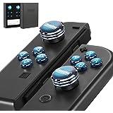 Epindon Cap-Con C1 Switch Joy-Con コントローラーに適合するアナログスティック サムスティック 方向(上下左右)ボタン ABXY ボタンカバー ネイビーブルー 10個セット【進化版】