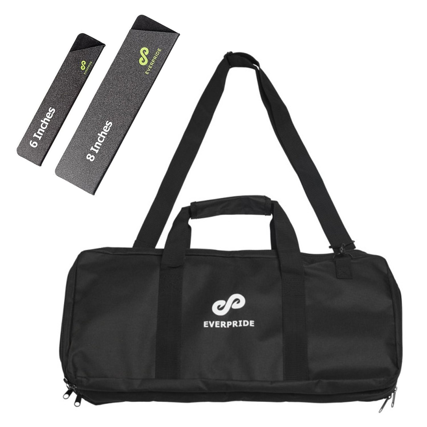 Knife Bag for Chefs w/Shoulder Strap by EVERPRIDE | Premium Culinary Knife Bag | Includes 2 Knife Guards | Durable Kitchen Utensils Holder | Knives Protector w/20 Pockets & 3 Zipper Compartments