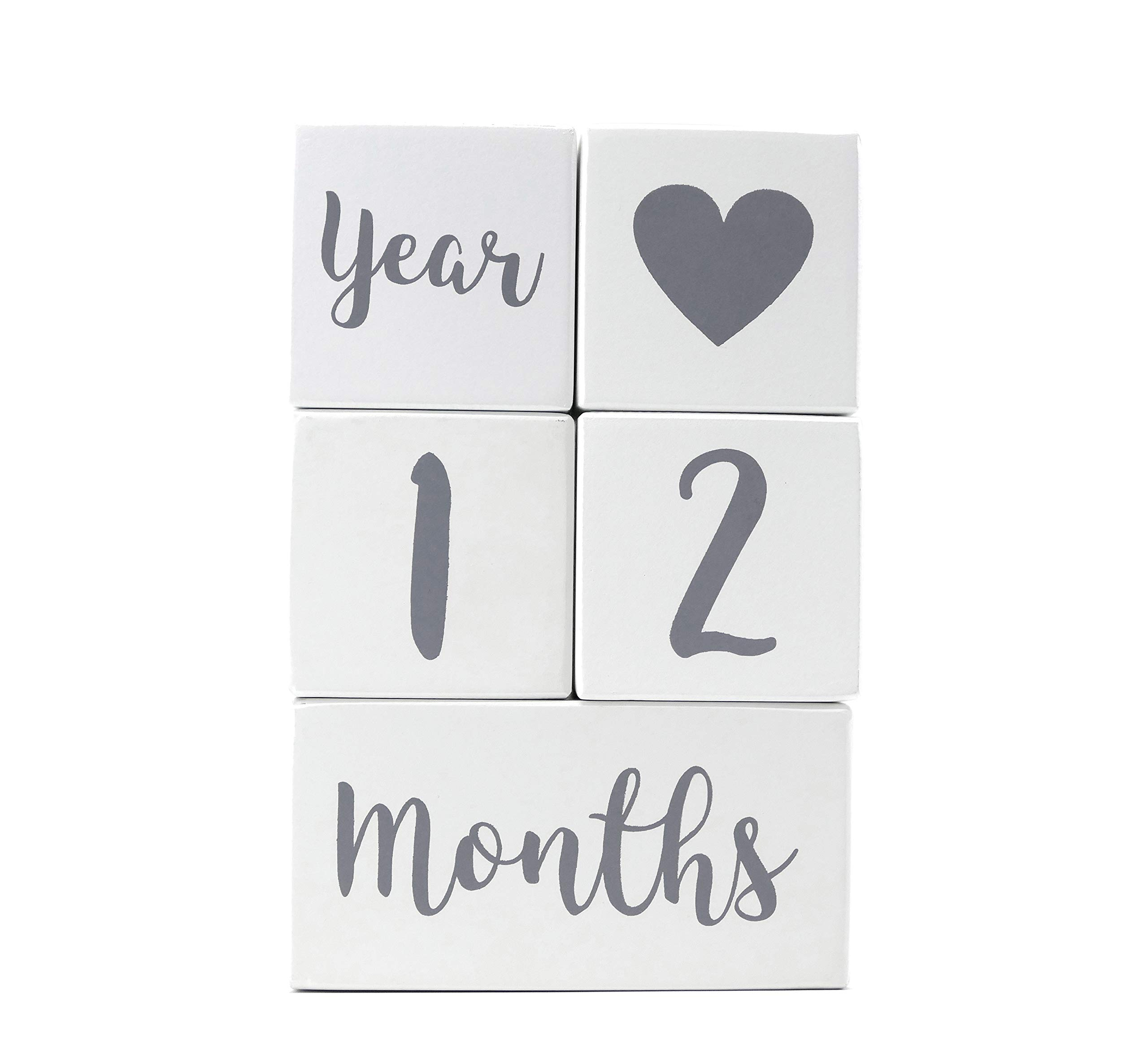 Baby Milestone Blocks   Pregnancy Baby Newborn Toddler Weekly Monthly Yearly Age   Premium Solid Wood Boys Girls Photo Props   Perfect Baby Shower Gift   Gender Neutral Keepsake for Photo Sharing by Baby Swagg
