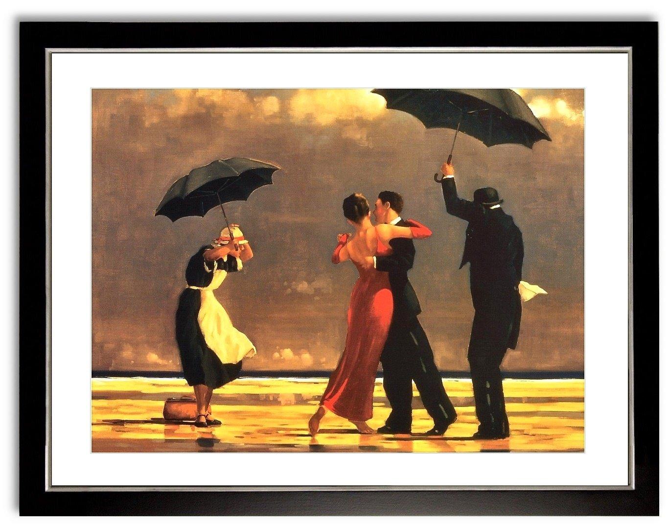 Poster Kunstdruck Bild Jack Vettriano The Singing Butler mit Rahmen PREIS-HIT