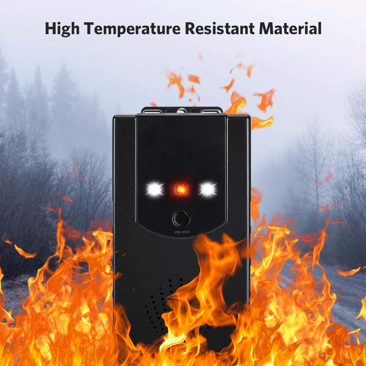 Anecity Marten Repellent Car Marten Protection Marten Repellent with Ultrasonic Change Frequency and LED Flash Light Function