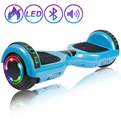 "SISIGAD Self Balancing Hoverboard, 6.5"" Two-Wheel Hoverboard with Bluetooth Speaker, Hover Board for Kids Adults - LACity Collection: Sports & Outdoors"