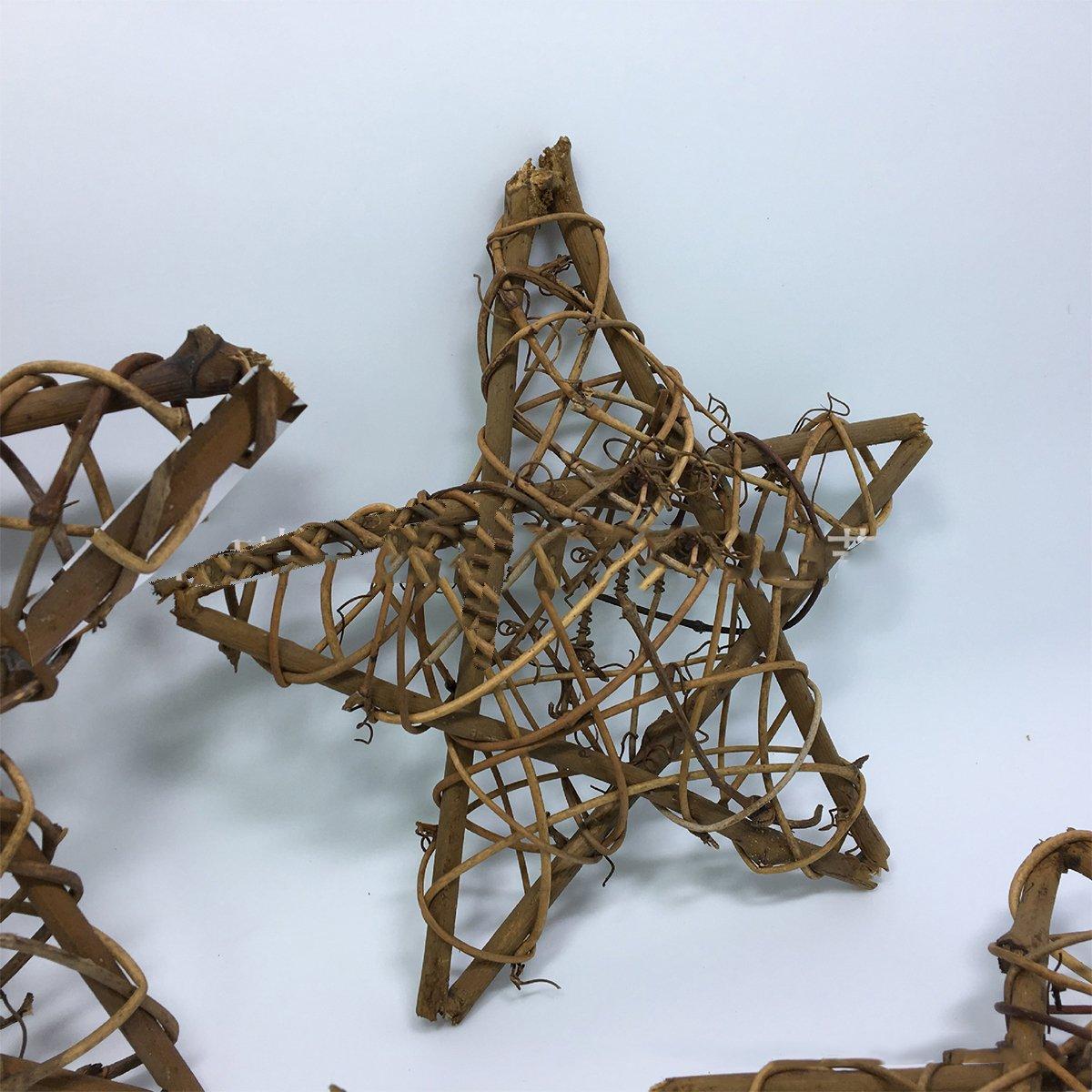 Home Natural Grapevine Wreath Star Shape DIY Crafts Base ...