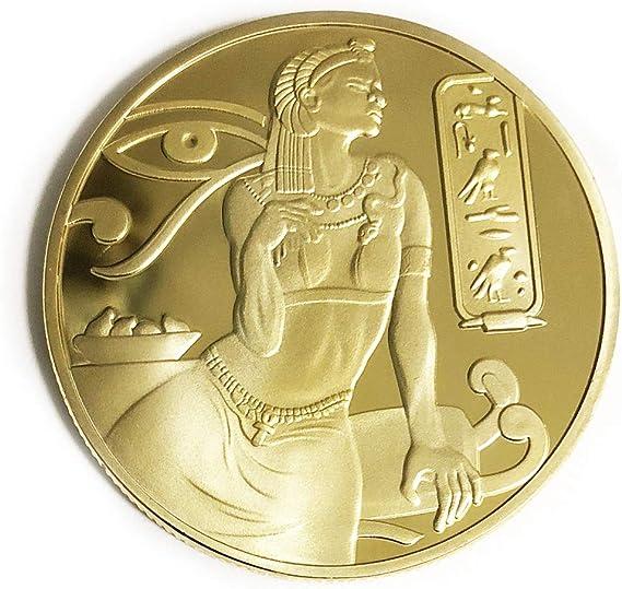 OZUKO Egipcio - Antigua Diosa ISIS Pirámides Moneda Conmemorativa Moneda del coleccionista Egipto: Amazon.es: Juguetes y juegos