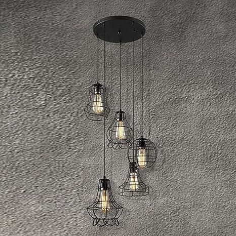Lámpara de techo de estilo industrial de ventilador, SUN RUN ...