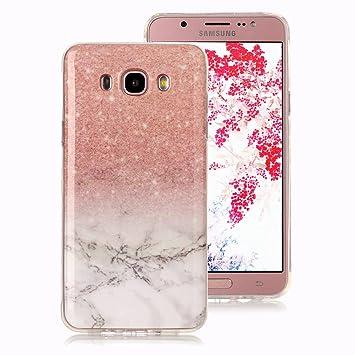 Funda Mármol para Samsung Galaxy J5 2016, Ronger Carcasa Gel TPU Silicona Marble Case Cover Funda Ultra Fino Flexible con Patrón de Piedra para Funda ...