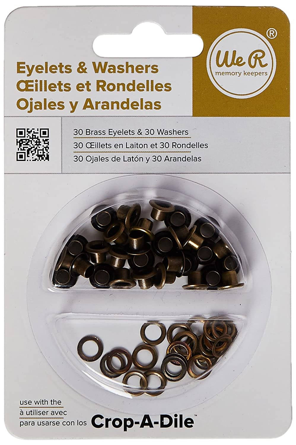 Eyelet and Washer Brass 60 Pieces 30 eyelets 30 washers