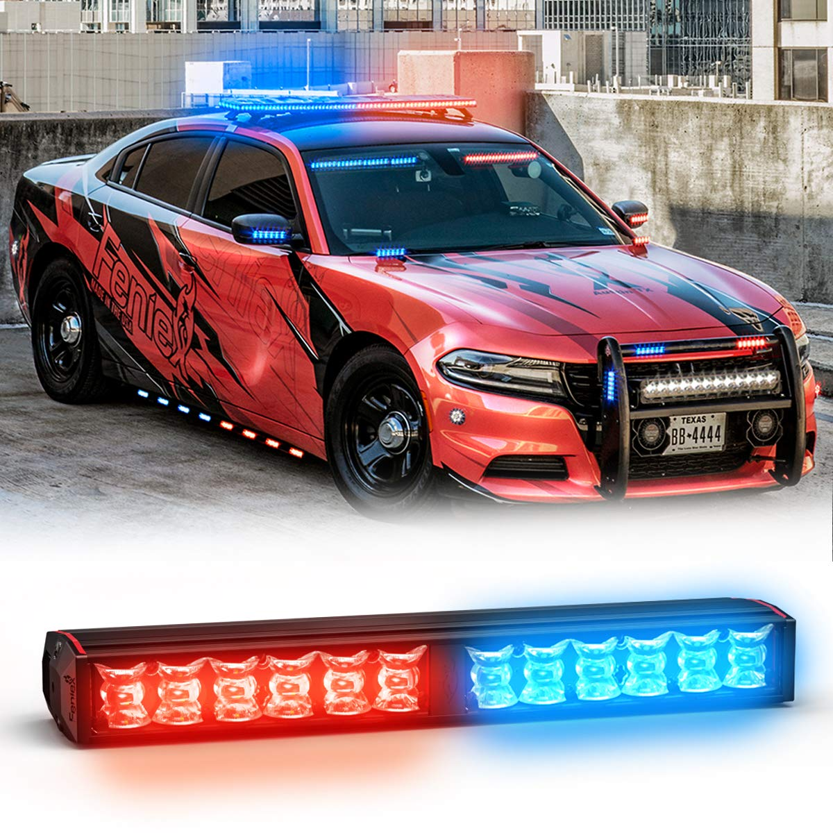 Feniex Fusion 200 Stick Light Single Color Red//Blue, 180/°