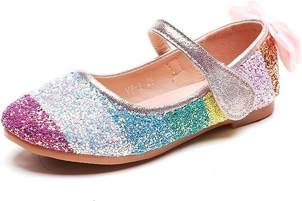 Minibella Girl's Rainbow Glitter Ballet