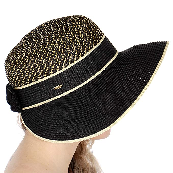 0ab0ccb3e6b Wide Brim Straw Beach Sun Hats for Women with Bow