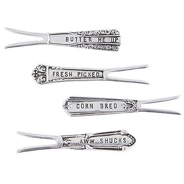 Vintage Inspired Stamped Corn Picks