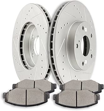 2006 2007 2008 For Honda Element Coated Front Disc Brake Rotors and Ceramic Pads