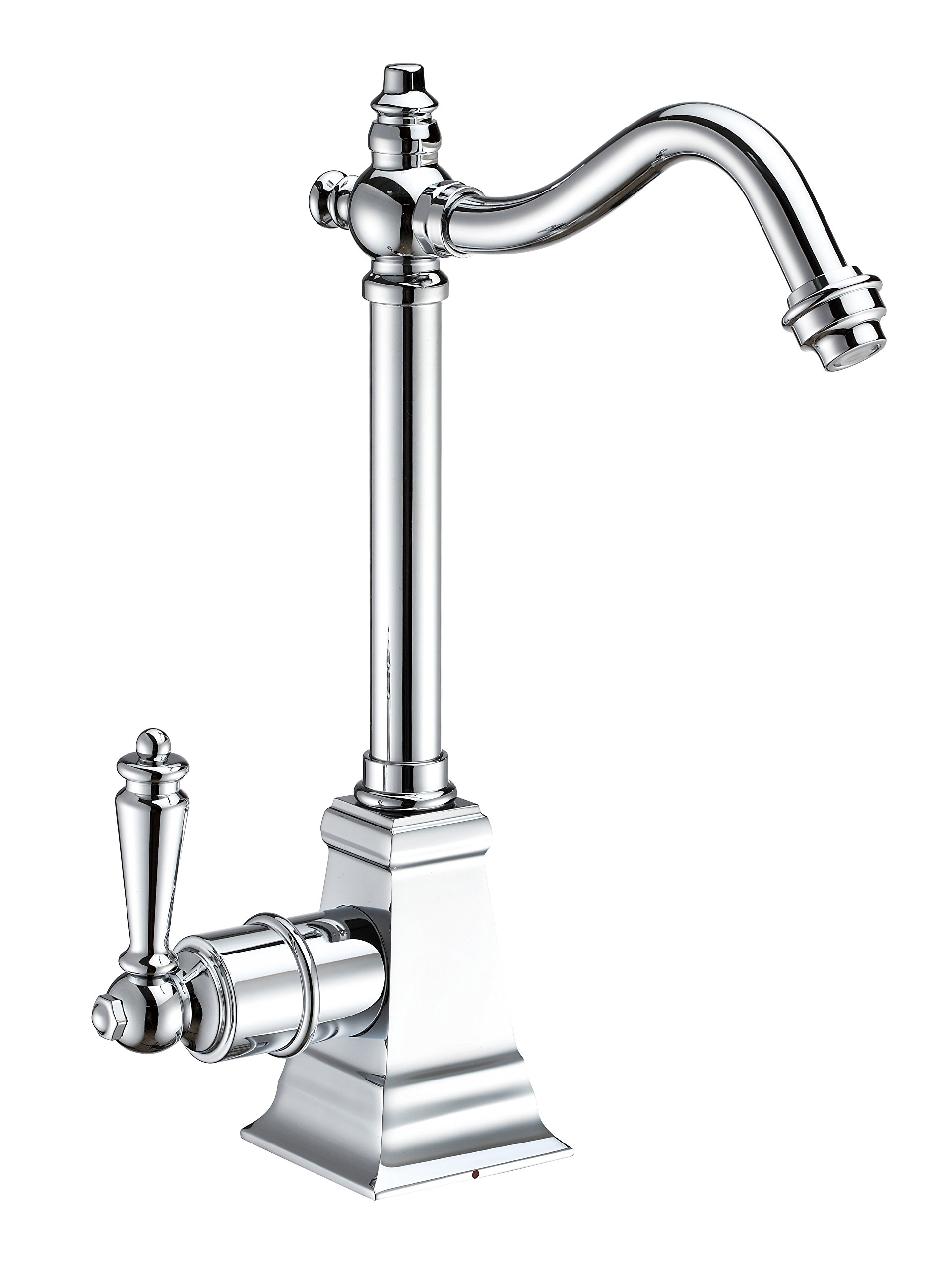Whitehaus Collection WHFH-H2011-C Forever Point of Use Instant Hot Water Faucet with Traditional Spout and Self Closing Handle Polished Chrome