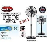 Maxell Power CE VENTILADOR DE PIE SOBREMESA METAL 50W 10'' PULGADAS GIRATORIO 3 VELOCIDADES MP-7818
