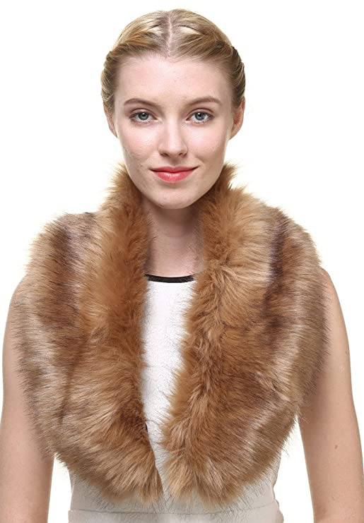 1920s Style Shawls, Wraps, Scarves Vogueearth WomenFaux Fur Neck Scarf For Winter Coat Collar $16.99 AT vintagedancer.com