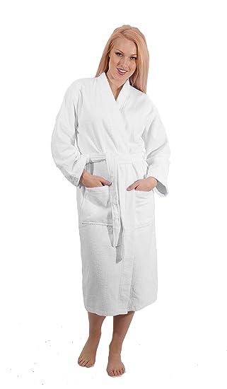13843fc04e Amazon.com  Lightweight Kimono and Shawl Style Bathrobe - Made with 100% Turkish  Cotton Unisex  Clothing