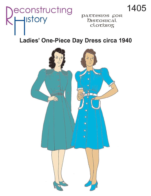 Amazon com: 1940 One-Piece Dress Pattern: Arts, Crafts & Sewing