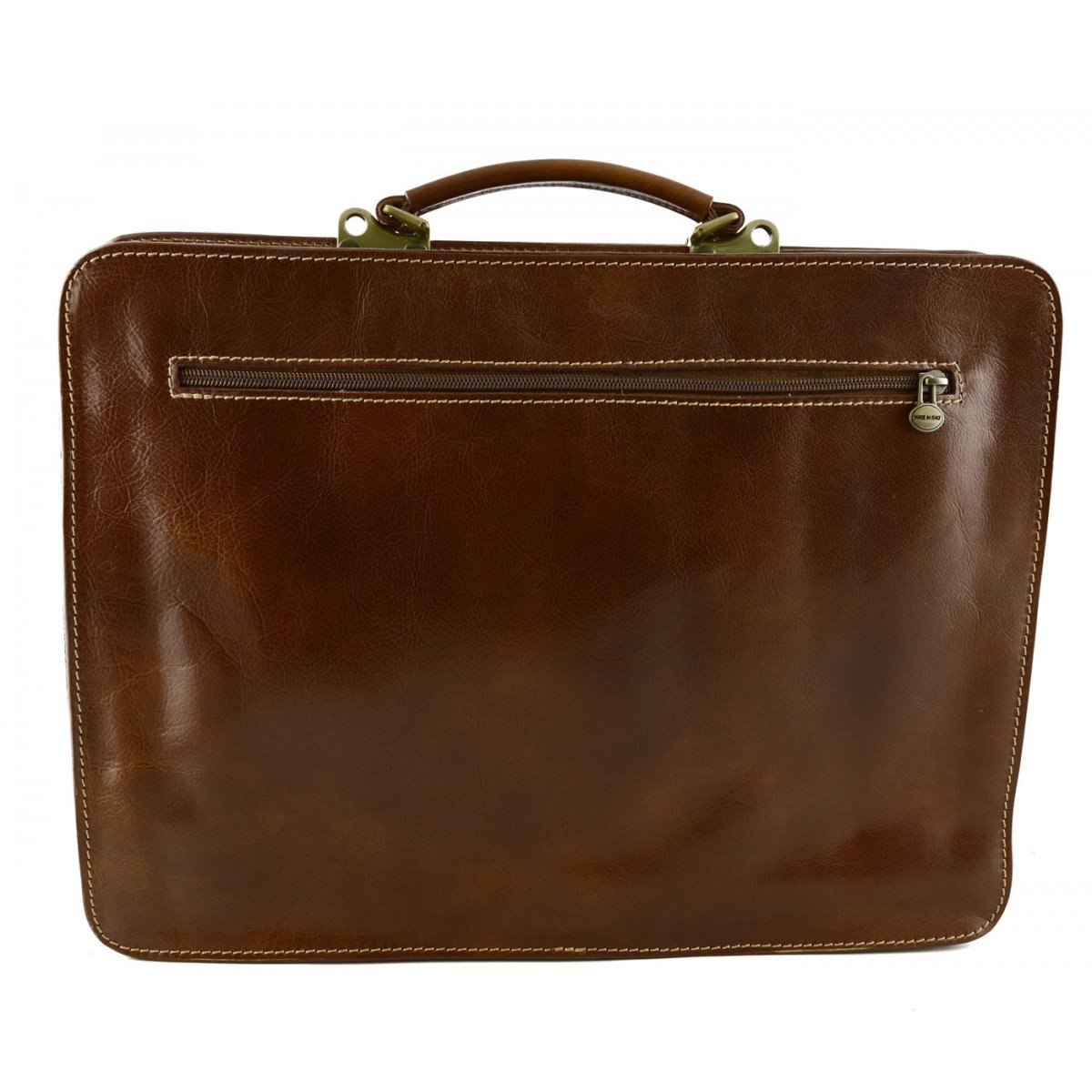 Large Color Tan Dream Leather Bags Made in Italy Genuine Leather Genuine Leather Business Bag Mod