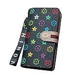 Bidear 財布 レディース 長財布 大容量 かわいい 花柄 型押し ウォレット 大きく開く 小銭入れ 財布 メンズ レディース カード12枚収納 多機能 ストラップ付き