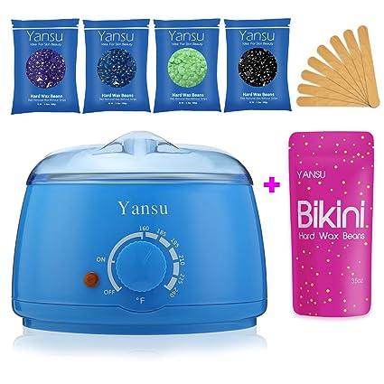 Kit de calentador de cera Yansu, 4 bolsas de cera, 10 ...