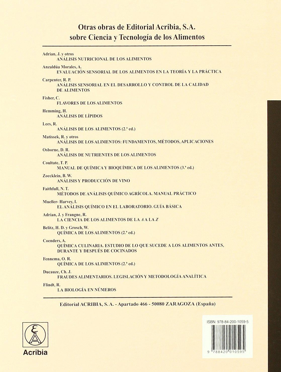 Análisis de los alimentos: manual de laboratorio: Amazon.es: S. Suzanne Nielsen, Ana Cristina Ferrando Navarro: Libros