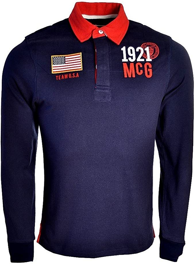 McGregor - Polo - para Hombre Azul Marino Large: Amazon.es: Ropa y ...