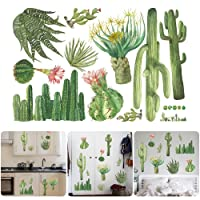 Yunhigh Four Leaf Clover Wall Decal Quotes Green Plant PVC Waterproof Wall Art Sticker DIY Decorative Art Mural for Living Room Bedroom Office Home Decoration