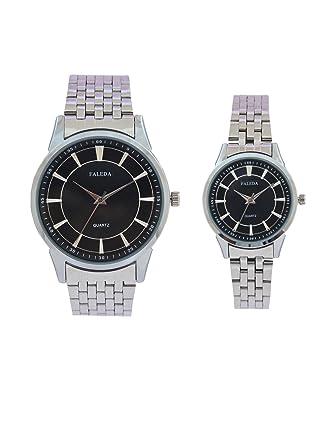 Faleda Black 6171PCHB Silver Analog Formal For Couple
