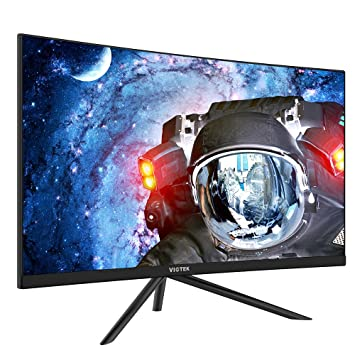 """VIOTEK GN27D 27 """" HD Gaming Curved Monitor – Seamless Performance w/ 144Hz  & 1440p"""