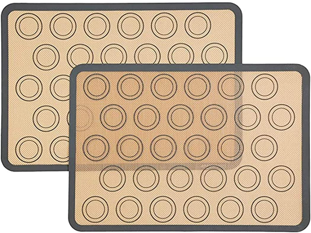 WEIKI Silicone Baking Mat Half Sheet Non Stick Cookie Sheet Liner Reusable Silicone Liner