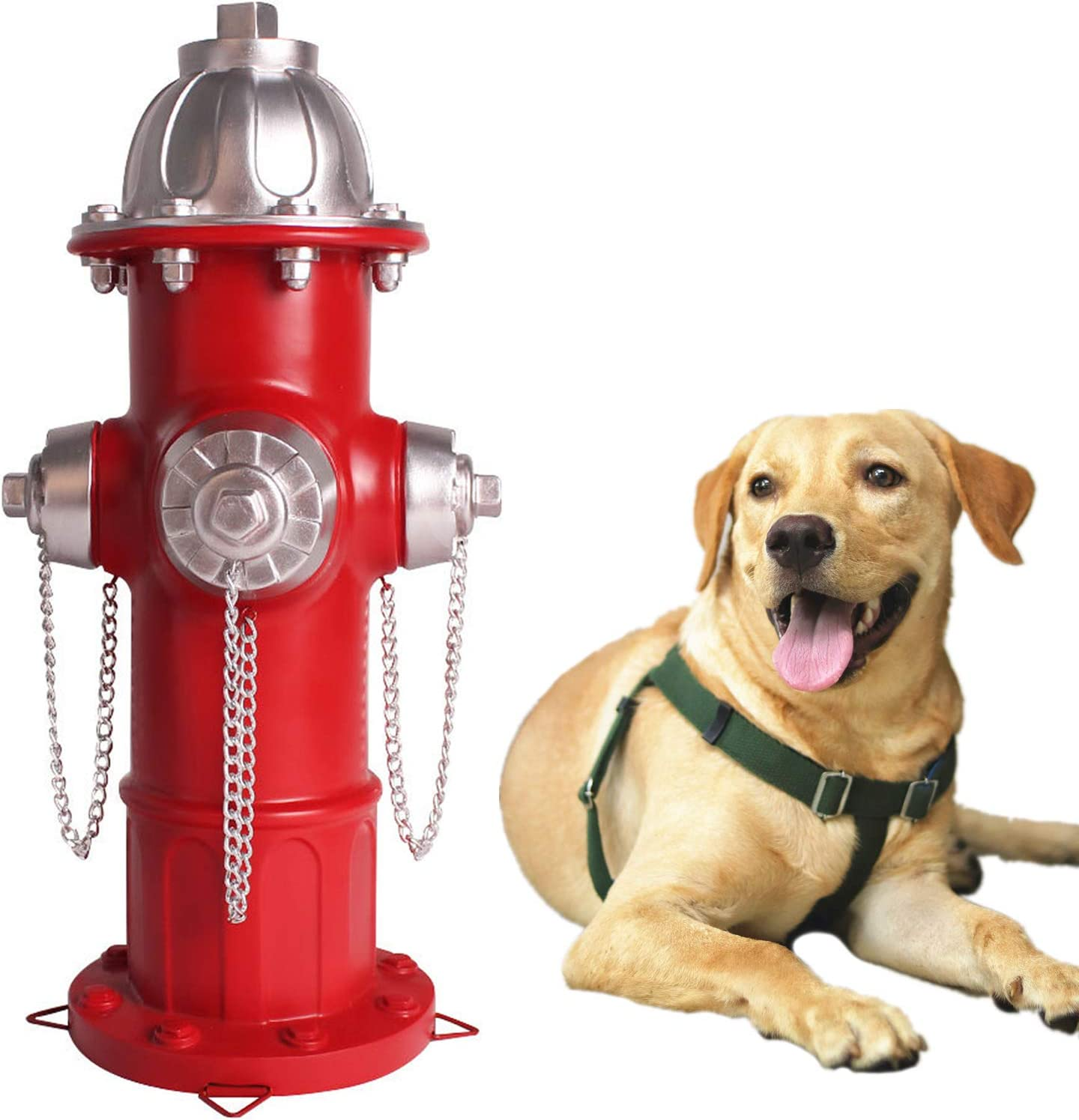 Lovely Ran Fire Hydrant Statue,Perfect Puppy Pee Training Post 14.5 inches Indoor Outdoor Garden Statue Yard Decoration