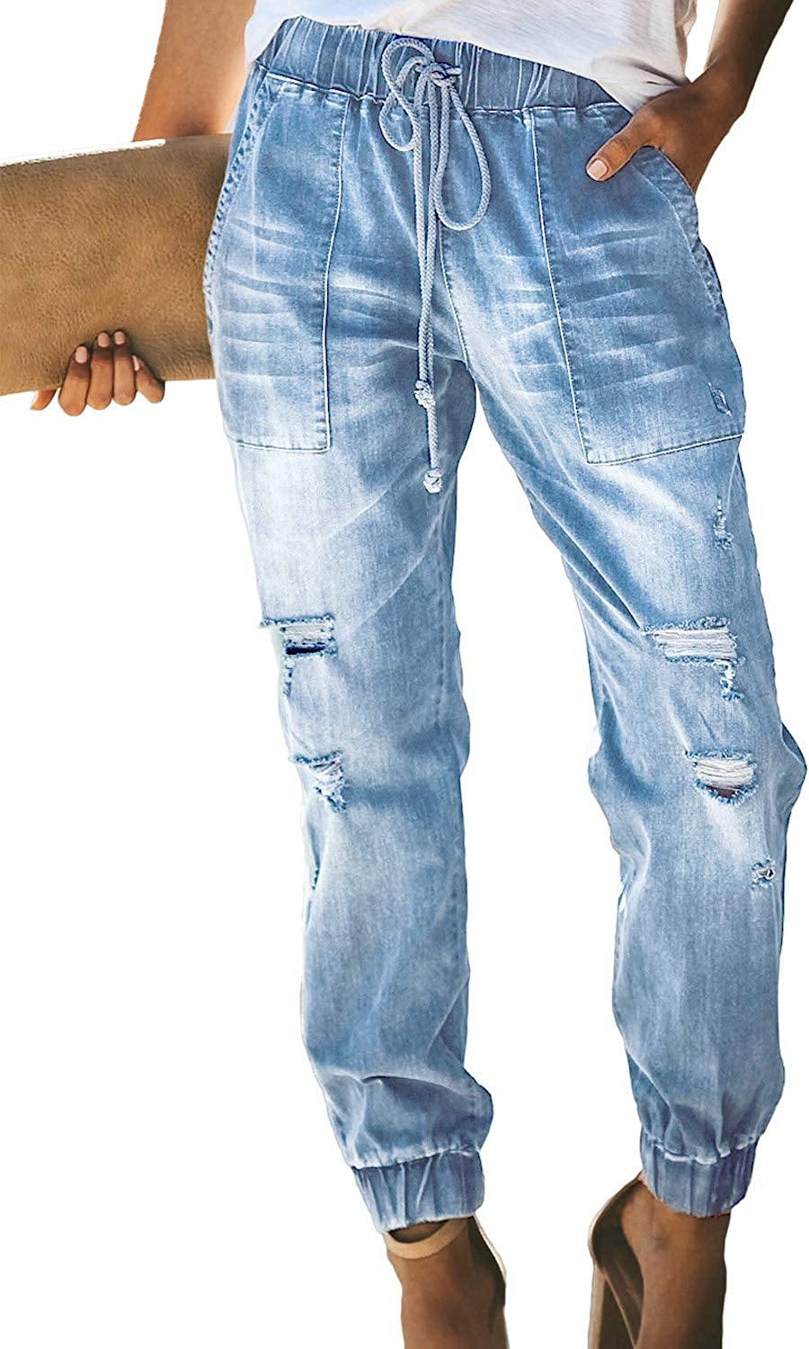 Enlishop Distressed Denim...